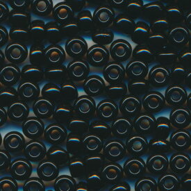 MIYUKI 丸大 シードビーズ 8/0 約3.0mm #401(#739) 黒ギョク 20グラムバラ 約780粒入り ミユキビーズ