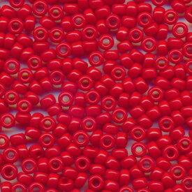 MIYUKI 丸小 シードビーズ 11/0 約2.0mm #408 赤ギョク 20グラムバラ 約2,200粒入り ミユキビーズ
