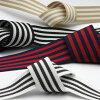 Stripe Grosgrain Ribbon approx.24mm Black & White 9.14 Meters Roll FUJIYAMA RIBBON