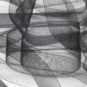 オーガンジーリボン 18mm ブラック 9.14M巻 手芸 服飾 ラッピング FUJIYAMA RIBBON