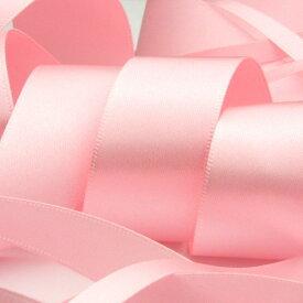 サテンリボン 両面ポリエステル 9mm ライトピンク 9.14M巻 手芸 服飾 ラッピング FUJIYAMA RIBBON