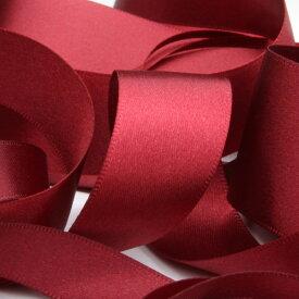 サテンリボン 両面ポリエステル 15mm ワインレッド 9.14M巻 手芸 服飾 ラッピング FUJIYAMA RIBBON