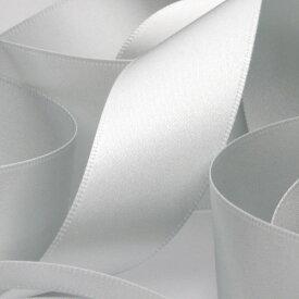 サテンリボン 両面ポリエステル 6mm シルバー 9.14M巻 手芸 服飾 ラッピング FUJIYAMA RIBBON
