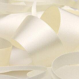 サテンリボン 両面ポリエステル 6mm アイボリー 9.14M巻 手芸 服飾 ラッピング FUJIYAMA RIBBON