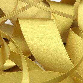 サテンリボン 両面ポリエステル 15mm ゴールド 9.14M巻 手芸 服飾 ラッピング FUJIYAMA RIBBON