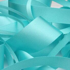 サテンリボン 両面ポリエステル 25mm ケンブリッジブルー 9.14M巻 手芸 服飾 ラッピング FUJIYAMA RIBBON