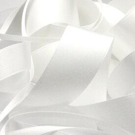 サテンリボン 両面ポリエステル 6mm ホワイト 9.14M巻 手芸 服飾 ラッピング FUJIYAMA RIBBON