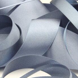 サテンリボン 両面ポリエステル 9mm シャドーブルー 9.14M巻 手芸 服飾 ラッピング FUJIYAMA RIBBON