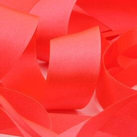 ネオンカラー サテンリボン 両面ポリエステル 36mm 蛍光チェリーピンク 9.14M巻 手芸 服飾 ラッピング FUJIYAMA RIBBON