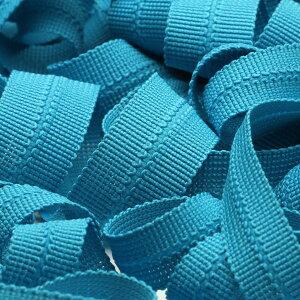 ニットバインダーテープ ポリエステル 7x7mm シアンブルー 9.14M巻 手芸 服飾 メートライン バイアステープ FUJIYAMA RIBBON