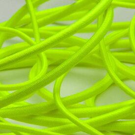 ネオンカラー ストレッチコード ポリエステル 3mm 蛍光イエロー 9.14M巻 手芸 服飾 ドローコード FUJIYAMA RIBBON