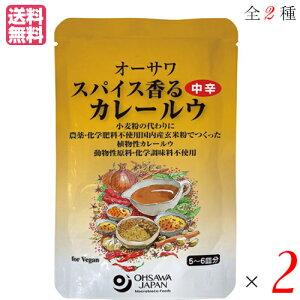 カレー カレー粉 カレールー オーサワ スパイス香るカレールウ 120g 全2種 選べる2袋セット