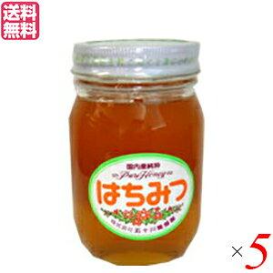【ポイント最大4倍】はちみつ 蜂蜜 国産 五十川養蜂園 国産はちみつ 混花 500g 5個 送料無料