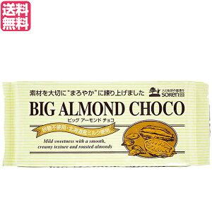 チョコ チョコレート 板チョコ 創健社 ビッグアーモンドチョコ 400g 送料無料