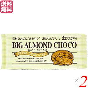 チョコ チョコレート 板チョコ 創健社 ビッグアーモンドチョコ 400g 2個セット 送料無料