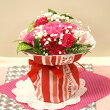 【送料無料】【母の日】【生花・花束】そのまま飾れる!カーネーションのスタンディングブーケFL-MD-301【フラワーアレンジ/誕生日/アレンジ/贈り物/プレゼント/母の日/父の日】