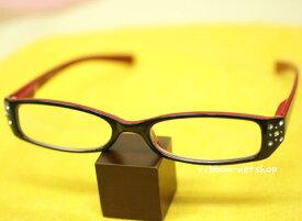 【シニアグラス】老眼鏡リーディンググラスラインストーンブラック ZAKA-115