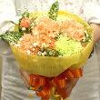 【送料無料】【母の日】【生花・花束】カーネーションのブーケ(ビタミンカラー)FL-MD-808【母の日/父の日/贈り物/ギフト/プレゼント】【楽ギフ_包装】