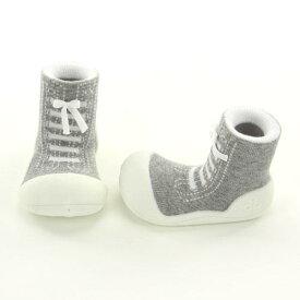 【宅配便指定商品】Baby feet ベビーフィートスニーカーズ グレー (サイズ:11.5) はじめてのたっち ZAKA-154【子ども/baby/くつ/靴/シューズ/子ども用/洗濯可能/トレーニングシューズ/ルームシューズ/】
