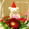Santa bear with flower arrangement (ikebana) FL-CH-919