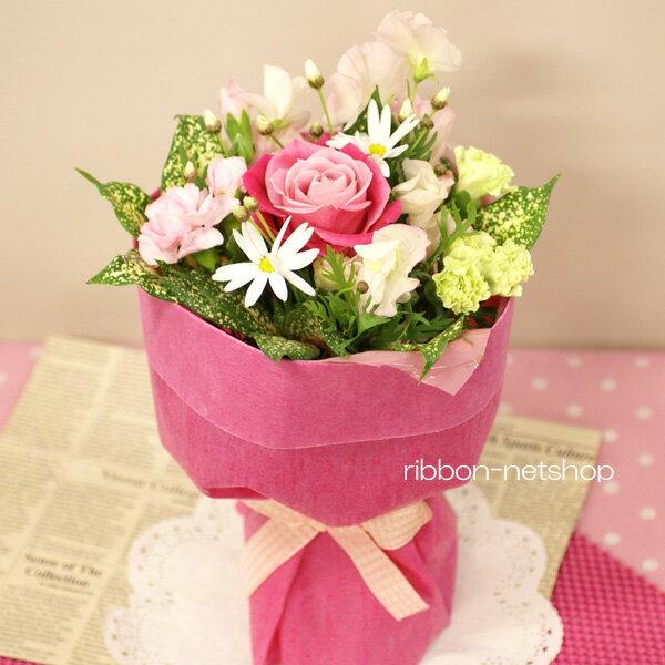 【2月限定】【送料無料】そのまま飾れる♪マーガレットと季節のお花のスタンディングブーケ(生花)FL-2GT-3
