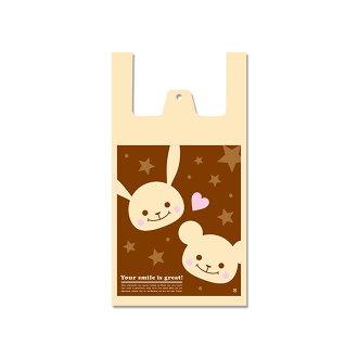 ◆手超级柄入◆购物袋、购物袋、shoppapuchifurendo M 100张装HAND-105