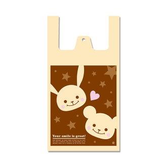 ◆手超级柄入◆购物袋、购物袋、shoppapuchifurendo L 100张装HAND-99