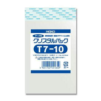 ' 도장 크리스탈 팩 (T7-10) 100 매/뭉치 OPP-55