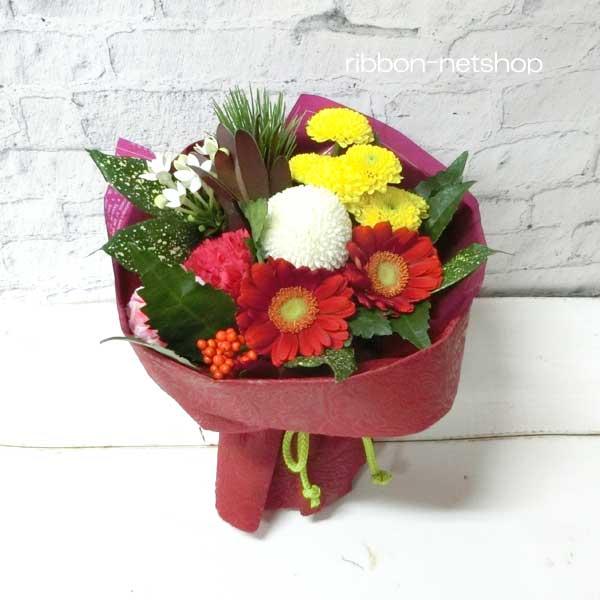 【2019迎春】【送料無料】そのまま飾れる花束♪お正月スタンディングブーケ(生花)お届け日指定できます♪FL-NY-422
