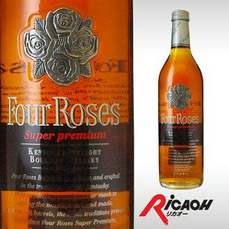 四玫瑰白金 43 ° 750 毫升威士忌