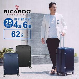 全品40%OFFクーポン! リカルド RICARDO スーツケース Mサイズ Arris アリス 25インチ スピナー キャリーバッグ 60L以上 ハードケース 大容量 軽量 4輪 静音 拡張 ビジネス 出張 158cm以内 レザー調 革