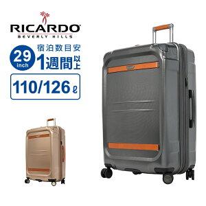 リカルド RICARDO スーツケース LLサイズ Ocean Drive オーシャンドライブ 29インチ スピナー ポーチ ハンガー Lサイズ 1週間以上 110L以上130L未満 ハードケース 大型 大容量 軽量 拡張 革 おしゃれ 高