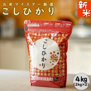 【送料無料】千葉県産コシヒカリ 4kg(2kg×2パック)【令和3年産】【新米】【便利なチャック付きの袋です】【産地直送こしひかり】