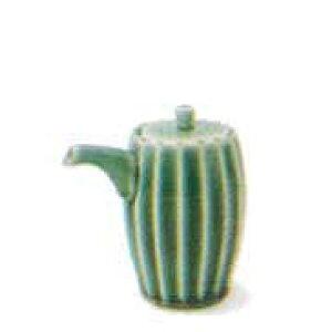 和食器 しのぎ 織部グリーン 緑 卓上カスターポット 醤油さし しょうゆ 酢 ソース うつわ 日本製 おうち 十草 ストライプ
