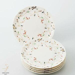 美濃焼 クリーム ケーキ皿セット 花唐草 和食器 うつわ 食器 おうちごはん