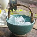 松助窯 アイスペール 氷入れ トルコブルー 酒器 焼酎 ウイスキー ロック 水割り 和食器 おうち うつわ 陶器 美濃焼 父…