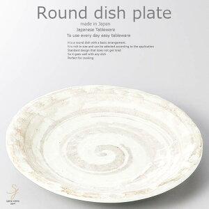 和食器 きのことソーセージのにんにく炒め 東風石目16.3×2.3cm プレート 丸皿 おうち ごはん うつわ 食器 陶器 日本製 インスタ映え