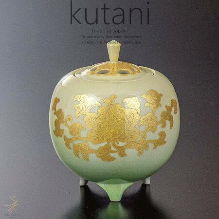 九谷焼4号香炉釉裏金彩牡丹文和食器日本製ギフトおうちごはんうつわ陶器