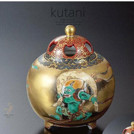 九谷焼4.8号香炉風神雷神和食器日本製ギフトおうちごはんうつわ陶器
