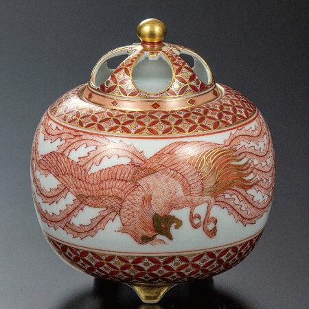 九谷焼4号香炉赤絵鳳凰文和食器日本製ギフトおうちごはんうつわ陶器