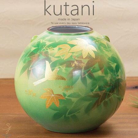 九谷焼7.5号花瓶金箔楓花鳥和食器日本製ギフトおうちごはんうつわ陶器