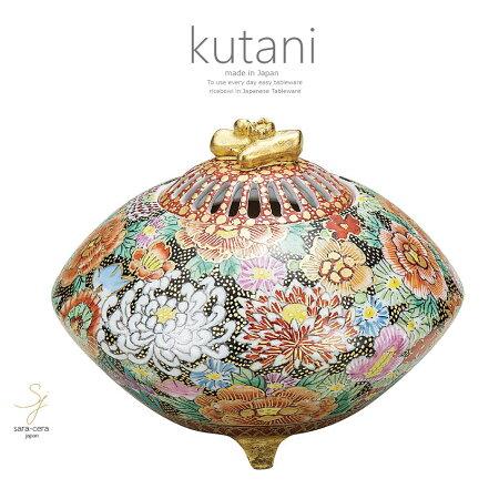 九谷焼4.8号香炉本金花詰和食器日本製ギフトおうちごはんうつわ陶器