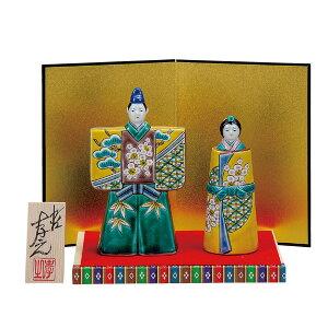 九谷焼 5.5号立雛人形 色絵松竹梅 和食器 日本製 ギフト おうち ごはん うつわ 陶器
