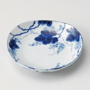 和食器 小さな藍染ぶどう三角 16.3×3.2cm 小皿 豆皿 お醤油 プチ うつわ 陶器 カフェ おしゃれ おうち 軽井沢 春日井