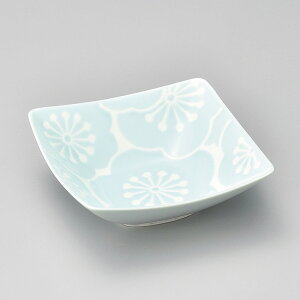 和食器 小さな はふり小鉢 梅 青 波佐見焼 12.5×12.5×4cm ボウル うつわ 陶器 カフェ おしゃれ おうち