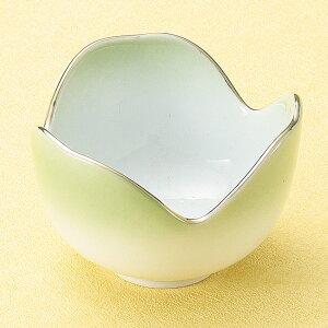 和食器 小さな渕金グリーン 緑吹割山椒 小鉢 5.2×3.4cm うつわ 陶器 おしゃれ おうち