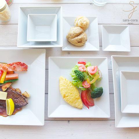 【送料無料】8ピースセット 白い食器 グレコ カフェディナーセット