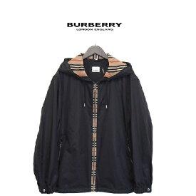 BURBERRY(バーバリー)ジップアップナイロンパーカー【ヴィンテージチェックパネル】【ナイロン】【8025684】【メンズ】【黒/ブラック】【2020年春夏新作】【送料無料】