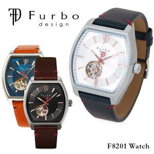フルボデザイン腕時計F8201【メンズ自動巻きレザーベルト】【PO10】