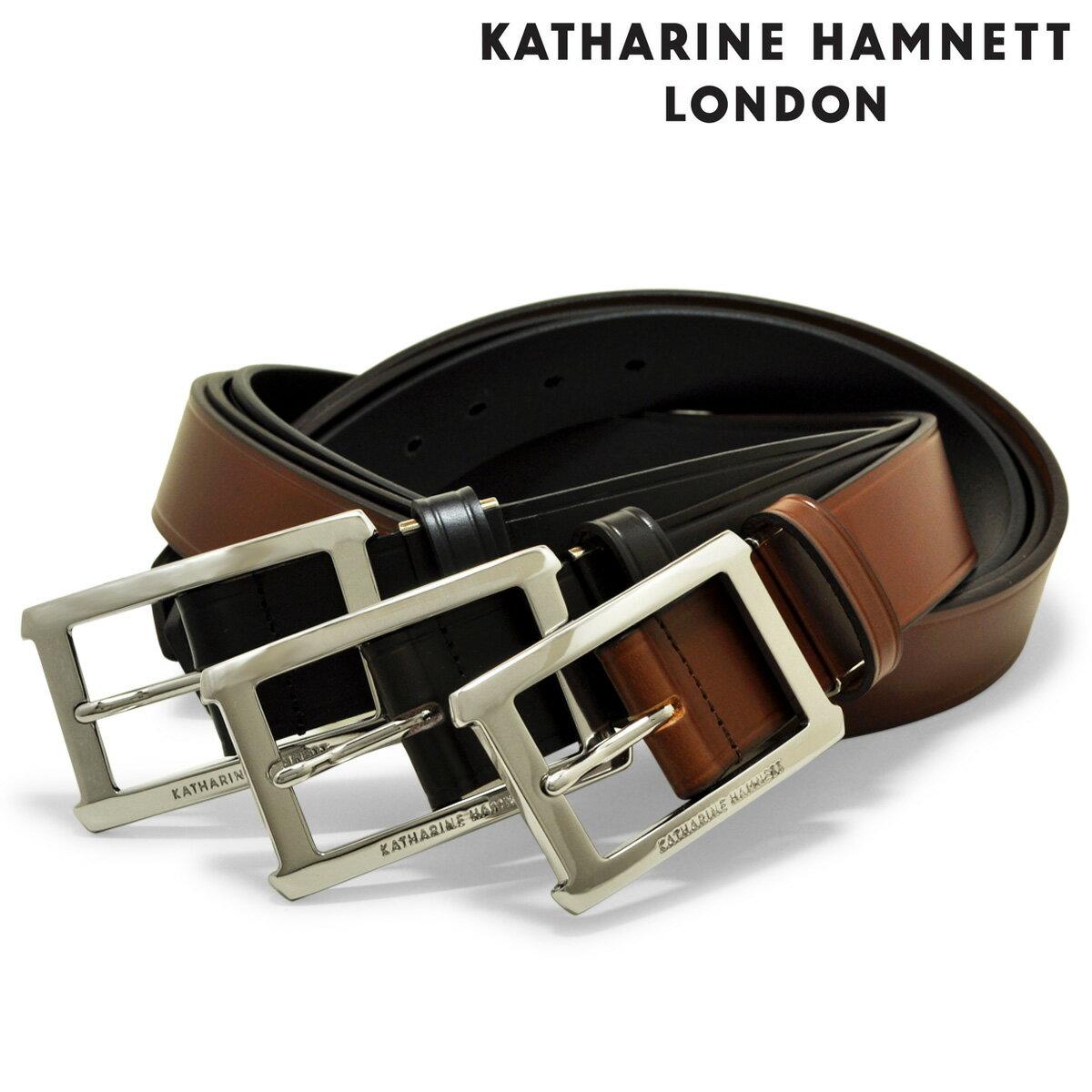 キャサリンハムネット ベルト KH-506028 【 メンズ 本革 牛革 レザー カットサイズ調整可能 】[bef][PO10][即日発送]